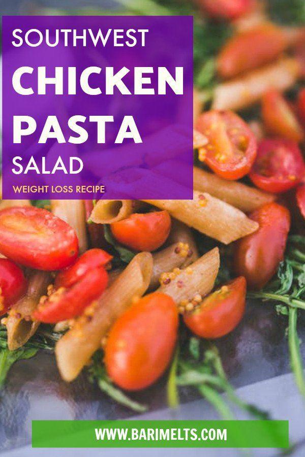 Delicious Bariatric Friendly Southwest Chicken Pasta Salad