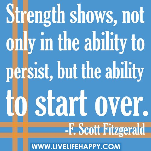 Strength Shows, Not Only In The Ability To Persist...