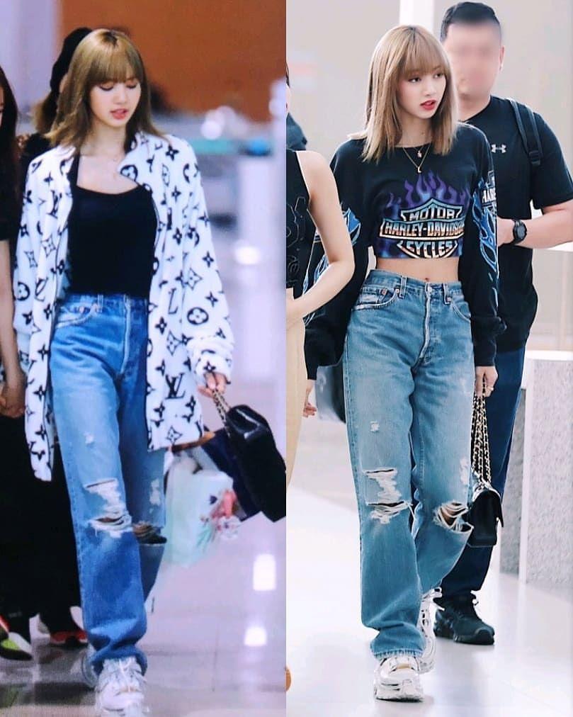 "BLΛƆKPIИK 블랙핑크 🇰🇷 on Instagram: ""The best outfits 😍 Lisa's airport style 2019 🖤 #blackpink #lisa"""