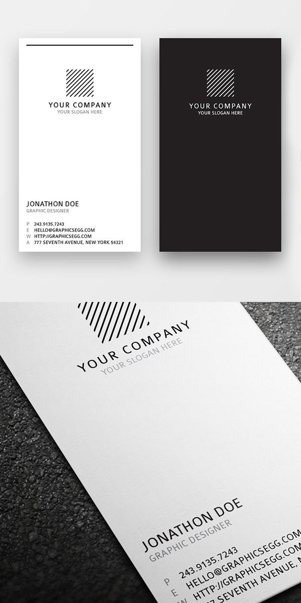 clean minimal vertical business card - Vertical Business Cards