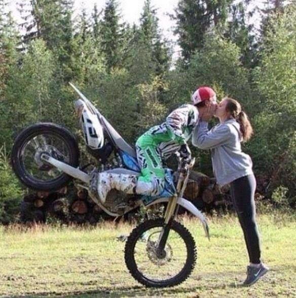 Dirt Bike Relationships Holding Hands