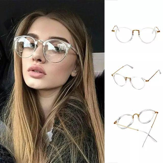 db8cf3153 Super Clear Transparente Cristal Pantos Quadro Lente Clara óculos Retro  Óculos De armação rosa óculos de sol óculos de armação preta