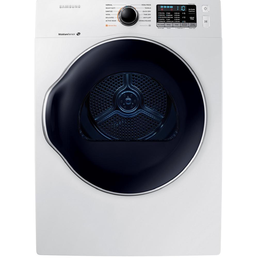 Samsung 4 0 Cu Ft Capacity White 24 Stackable Electric Ventless Heat Pump Dryer Energy Star Certified Dv22n6800hw Electric Dryers Heat Pump Cool Things To Buy