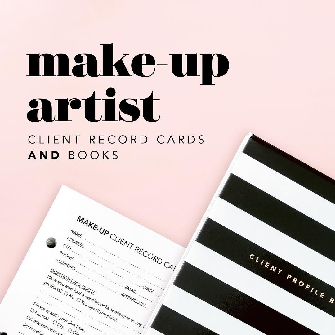 Client Profile Cards Binders For Make Up Artists Beauty Mua Makeup Beauty Products Makeupproduct Client Profile Makeup Artist Makeup