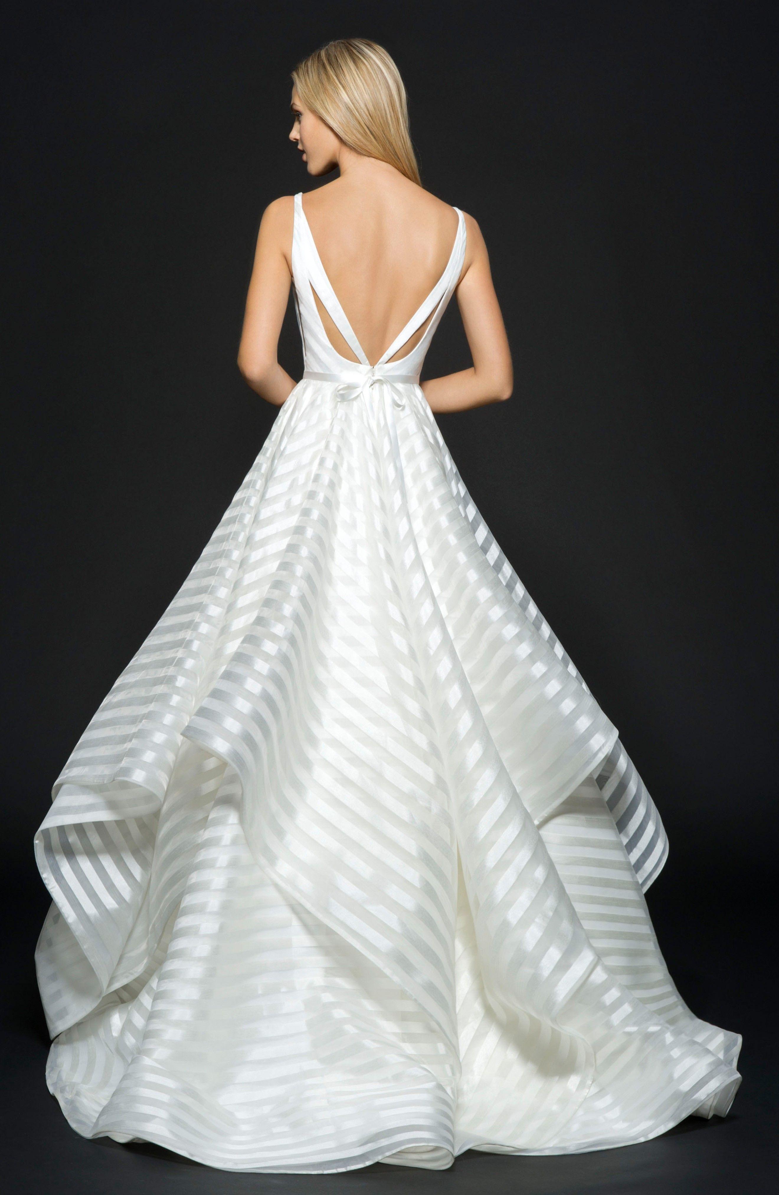 Nordstrom wedding dress  Decklyn Stripe Organza Ballgown by Hailey Paige at Nordstrom ad