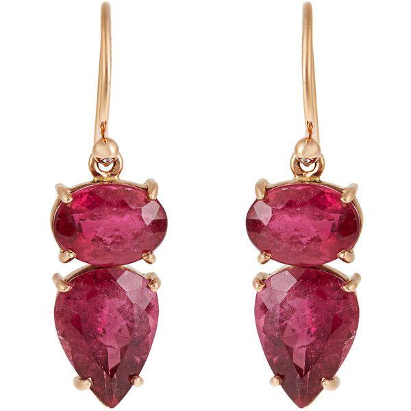 Irene Neuwirth Tourmaline rosegold earrings 4941 liked on
