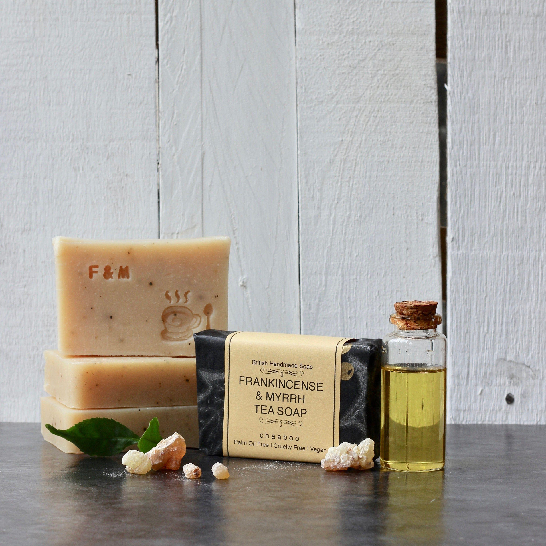 Frankincense Myrrh Tea Soap Vegan Soap Natural Soap Palm Oil Free Cruelty Free Essential Oil Handmade In Uk By Chaaboo 85g Vegan Soap Soap