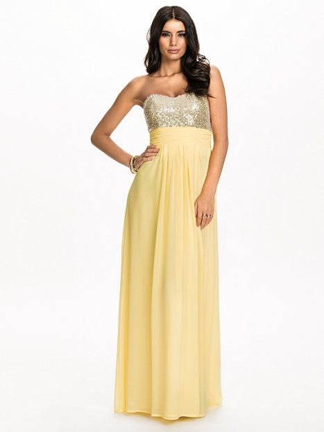 Cross Back Maxi Dress - Nly Eve - Yellow - Party Dresses - Clothing ...
