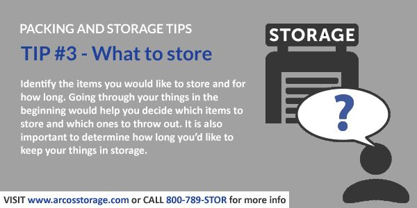 Packing And Storage Tips Determine The Items You D Like