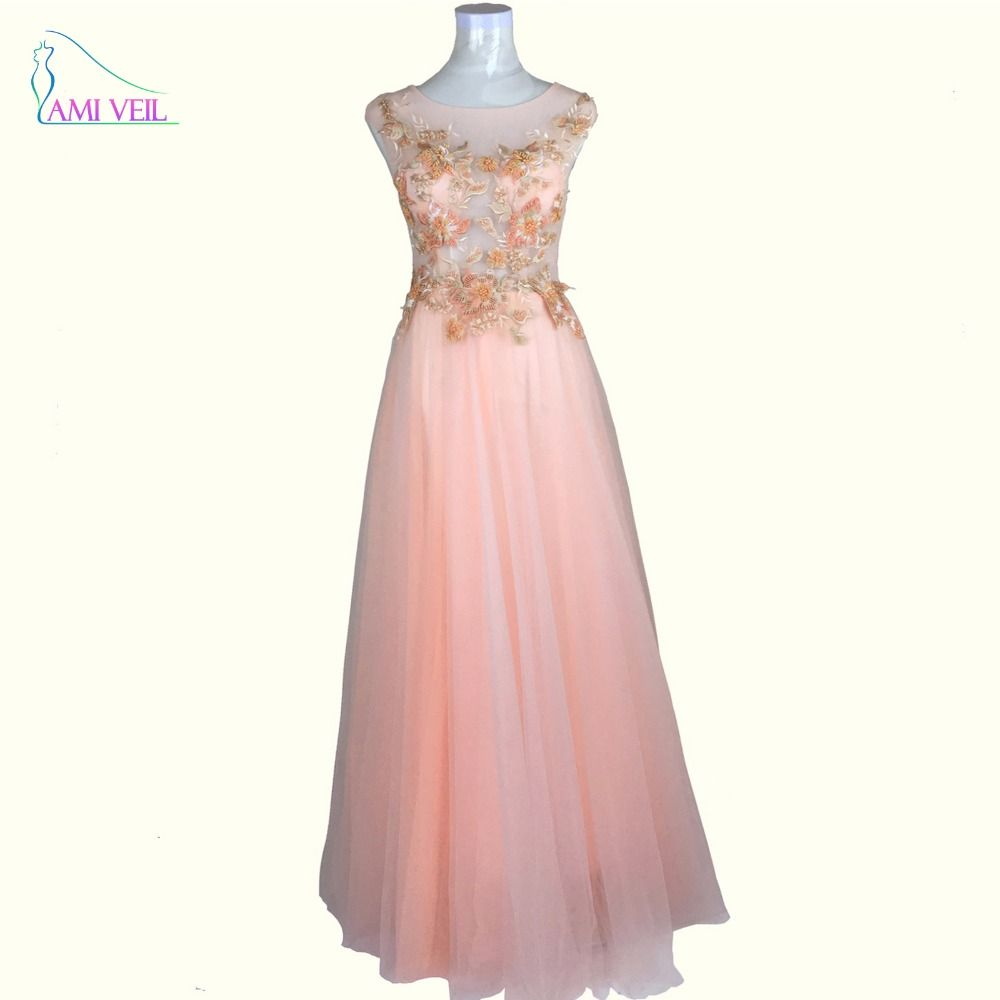 Click to buy ucuc blush pink pearls beaded floral embroidery sheer