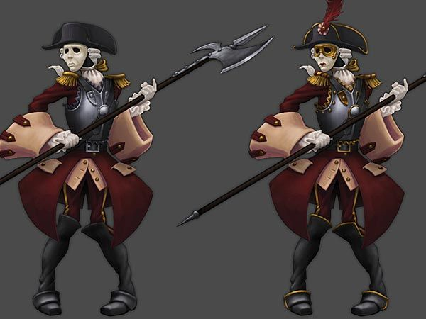 Pirate101 Valencian Armada Musketeers Tier 1 and 2 | The art