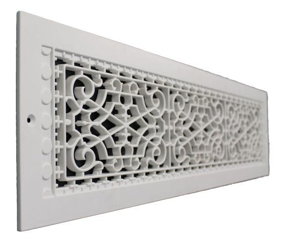 Victorian 6 X 30 Wall Mount Grille Vent Cold Air Return Air Return Decorative Vent Cover