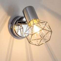 Globo Wand- und ceiling spotlight chrome, 1-Bulb