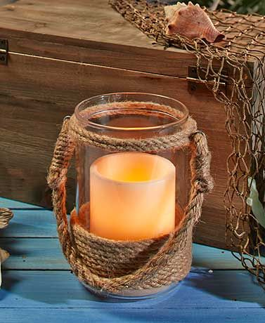 Nautical Rope Hurricane Candle Holders From Www Lakeside Are An Amazing Deal At Just 7 9 Each Comes In Small Medium And Large Size