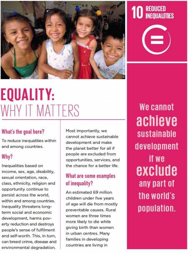 Goal 10 Reduced Inequalities The Worlds Largest Lesson Un Sustainability Goals Inequality Goals
