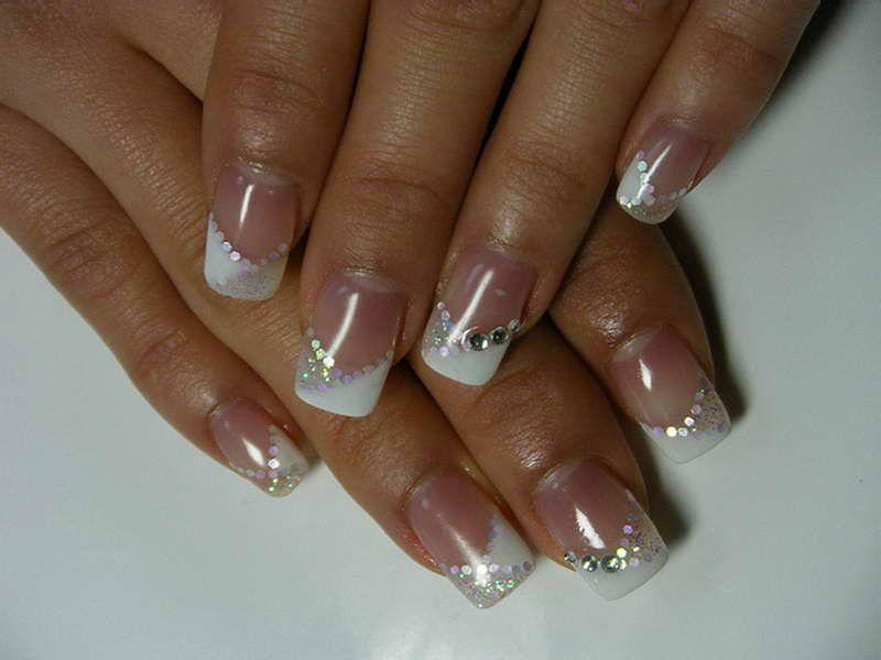 Nail Ideas With Diamonds - http://www.mycutenails.xyz/nail-ideas ...
