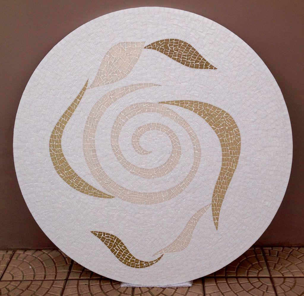 Mosaico Espiral Curvas E Uma Das Mesas Mais Lindas Que Ja Fiz