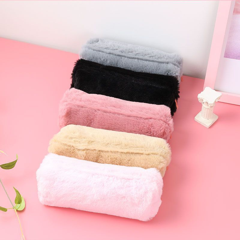 Cute Solid Color Plush Pencil Case bag For Girls Pencil Bag Stationery Pencil case Kawaii pencil cas  #cute #solid #color #plush #pencil #case   #Bag #Cas #Case #Color #Cute #Girls #Kawaii #Pencil #Plush #Solid #stationery