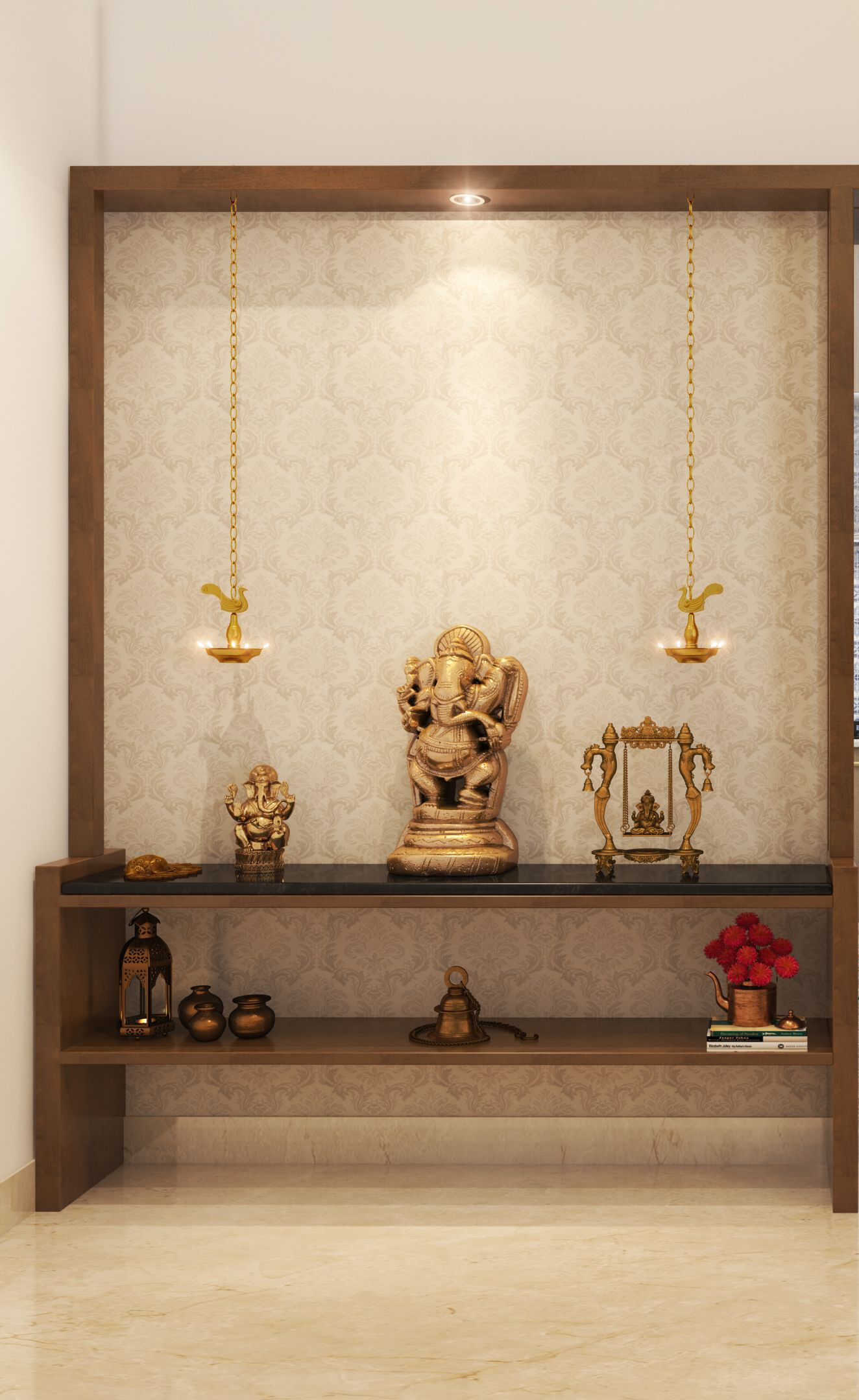 4 Classic, Easily Available Materials For Pooja Room ...