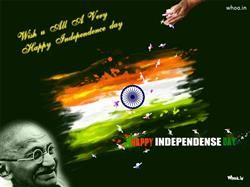 Happy Independence Day With Quotes And Mahatma Gandhi Hd Wallpaper In 2020 Happy Independence Day Images Independence Day Wishes Independence Day Images