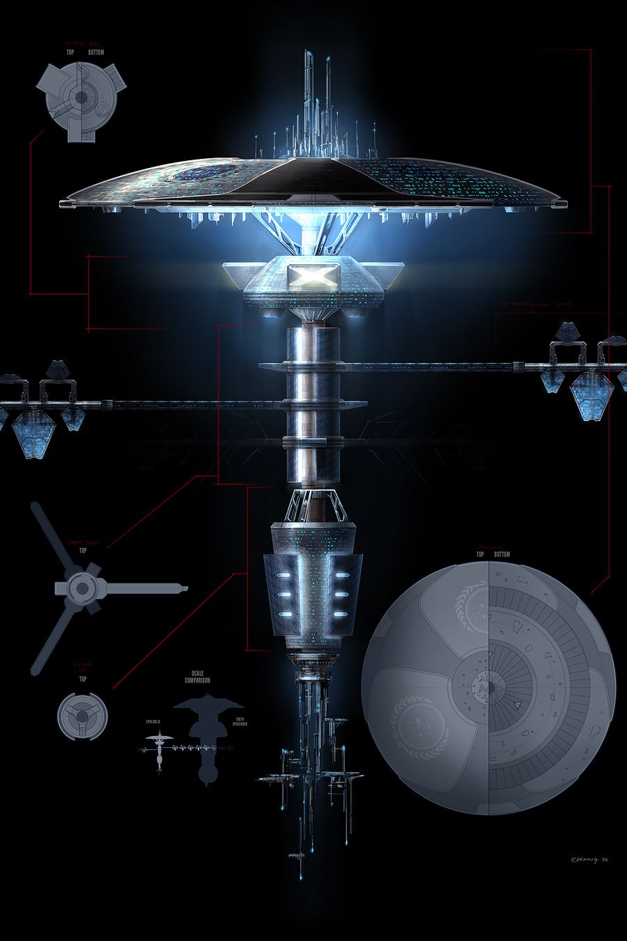 Colossalsized space station Starbase Orbital starship