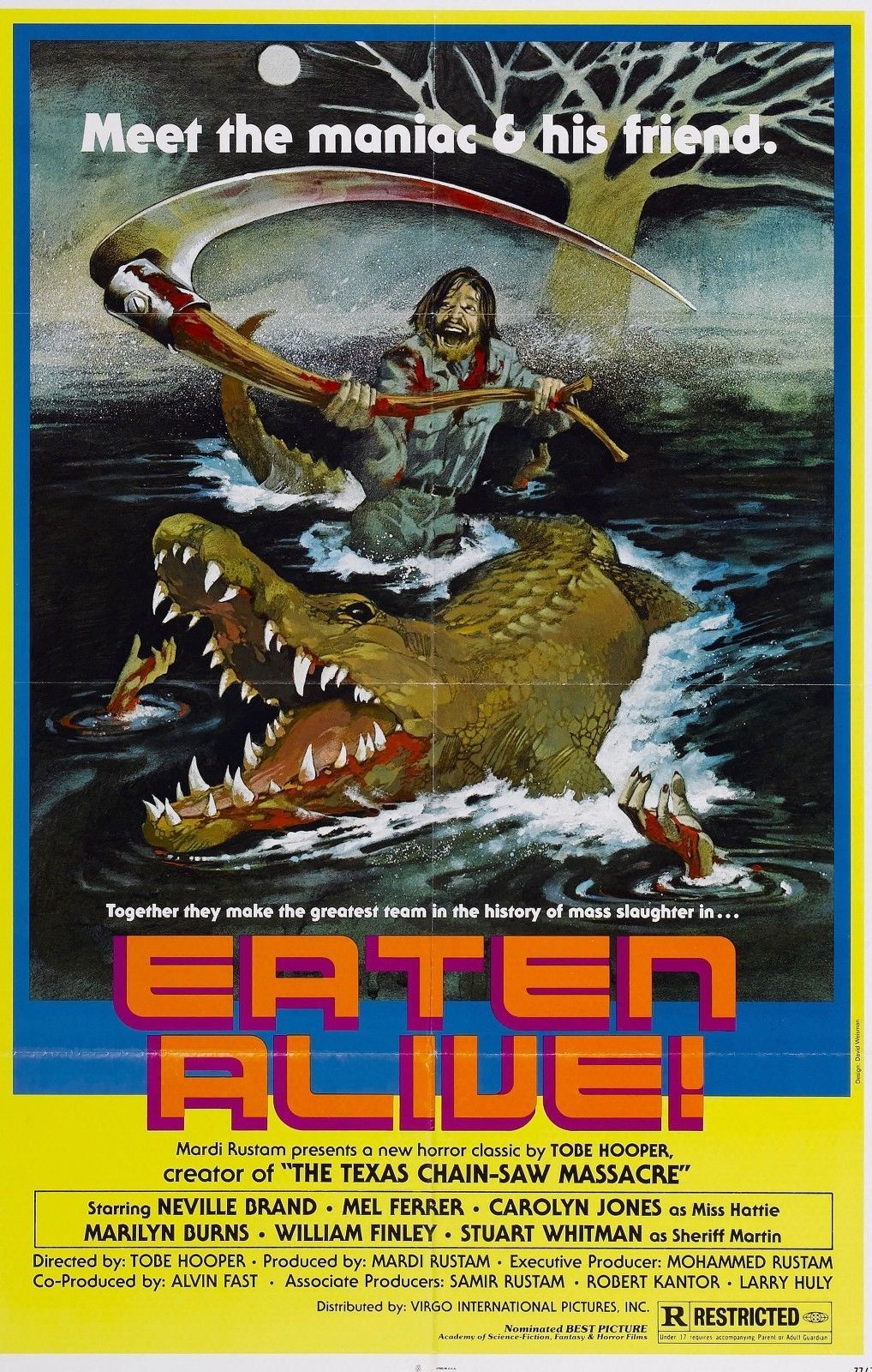 Eaten Alive Movie Poster Horror Tobe Hooper