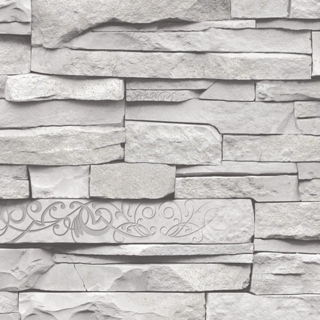 Rasch Factory Slate Brick Faux 3d Effect Grey Wallpaper Inspired By Slate Walls And A Twist On Popul Slate Wallpaper Brick Wallpaper Grey 3d Brick Wallpaper