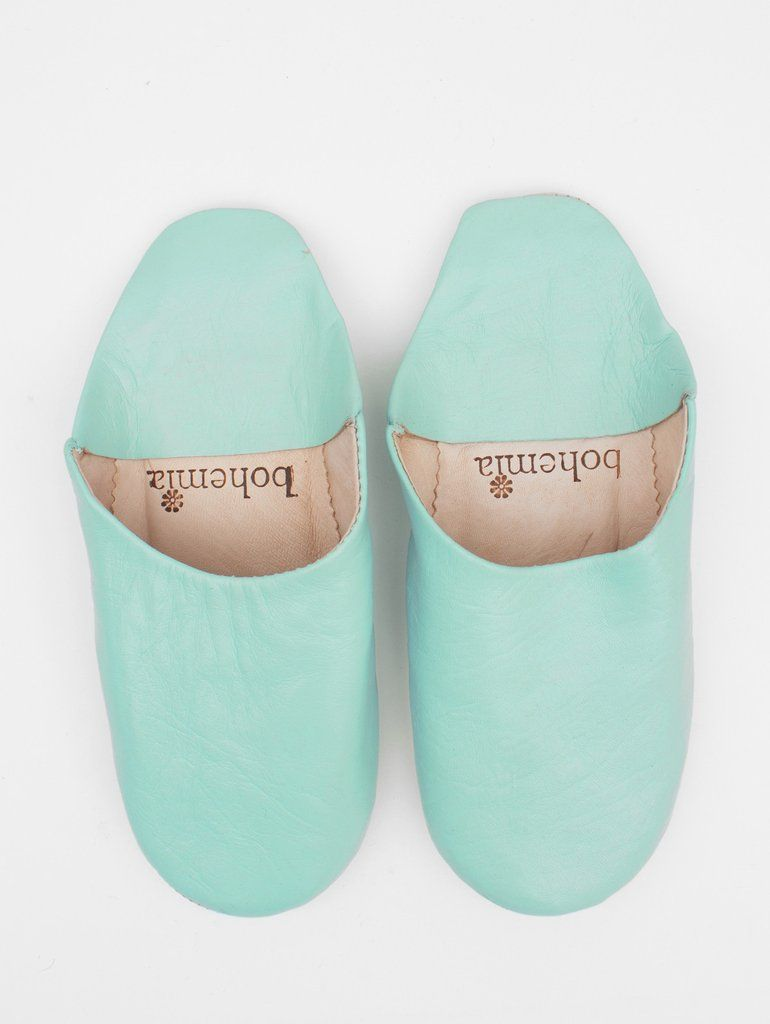 2f936adf686bc Moroccan Babouche Basic Slippers, Duck Egg | F A S H I O N ...