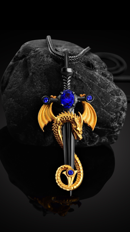 UK CELTIC MOON /& SWORD PENDANT NECKLACE Silver Chain Glass Jewellery Gift Idea