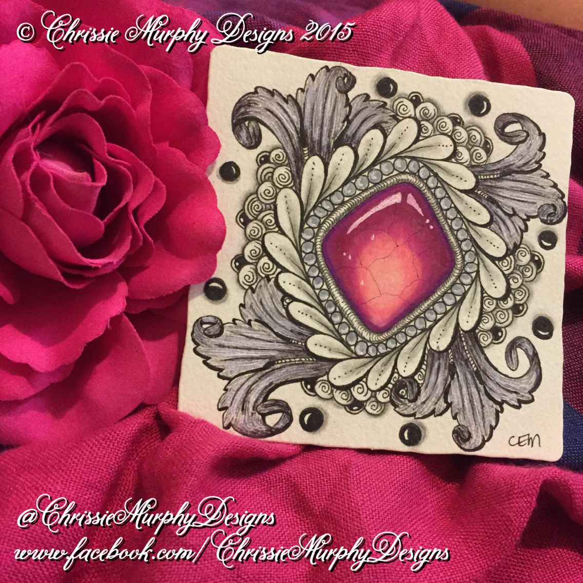 Gems by www facebook com chrissiemurphydesigns zentangle