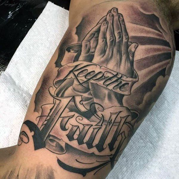 38e58422b 70 Praying Hands Tattoo Designs For Men - Silence The Mind | TatToOs ...