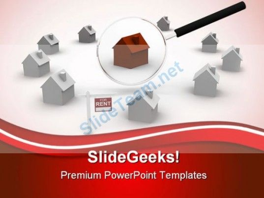 search for rent house real estate powerpoint templates and powerpoint backgrounds 0411 powerpoint templates