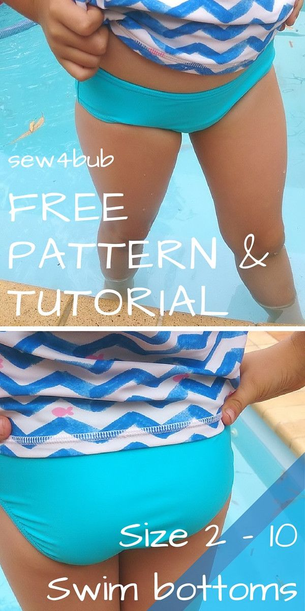 FREE Swim bottoms sewing pattern sizes 2 - 10 at sew4bub | Sewing ...