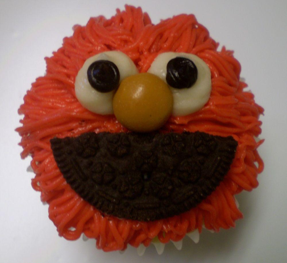 Tickle me Elmo Cupcake!