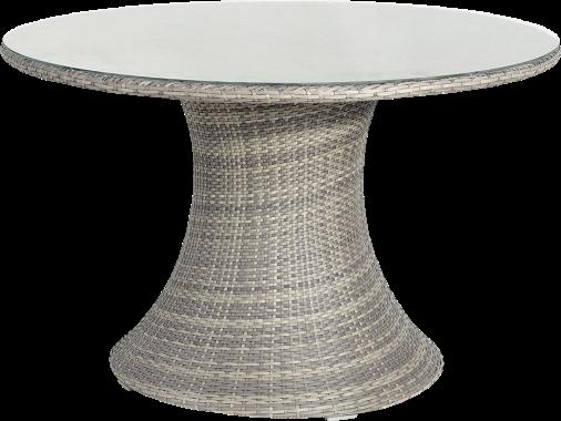 Table ronde de jardin vulcano aluminium r sine tress e - Film transparent pour table en verre ...