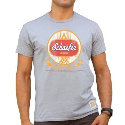 Drink If You Are A Schaefer Funny Beer Party Label Inspired T Shirt