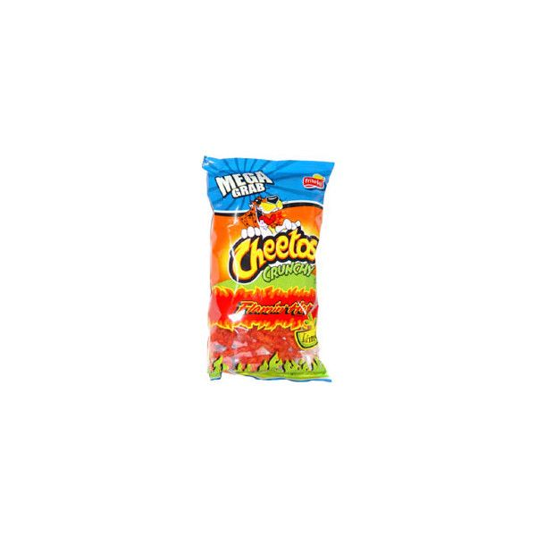 Cheetos Crunchy Flamin' Hot Limón ❤ liked on Polyvore featuring food and food and drink