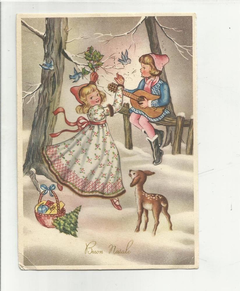 Natale Antico Immagini.Dettagli Su 88764 Vecchia Cartolina Di Buon Natale Vintage