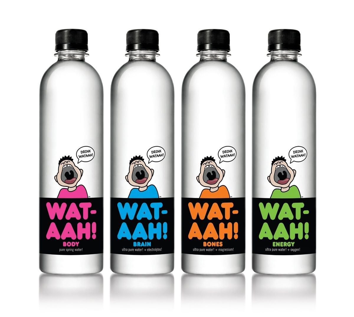 WAT-AAH! | Premium brands, Package design and Water packaging