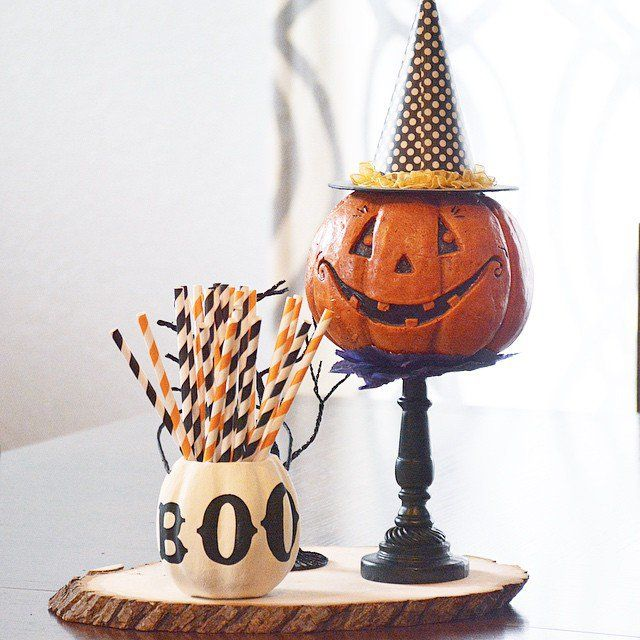 What's great about using smaller kids' Halloween decor pieces (as in | 26 Real Halloween Decorating Ideas to Copy | POPSUGAR Home
