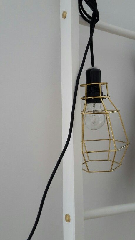 Ladder and light fixture, designed and made by me.