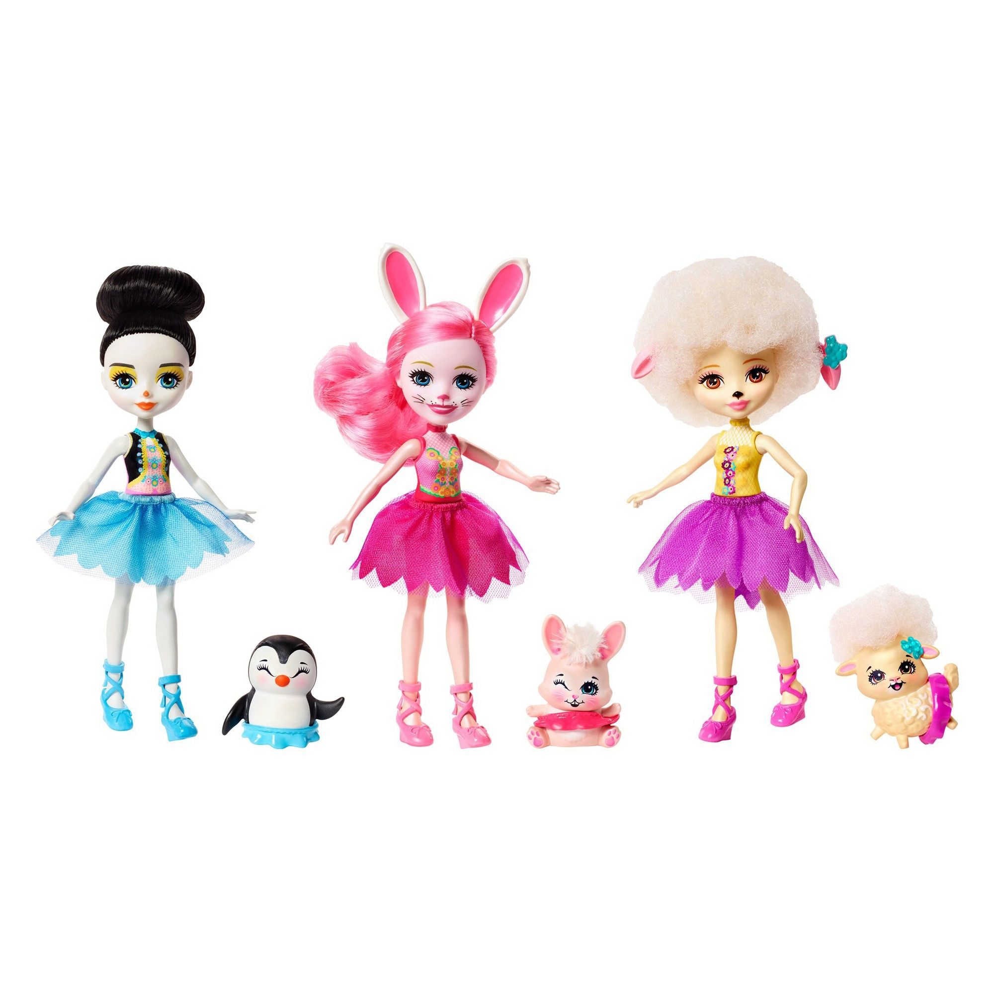 Enchantimals Ballet Cuties Doll 3pk Ballet Doll Dolls Kitty