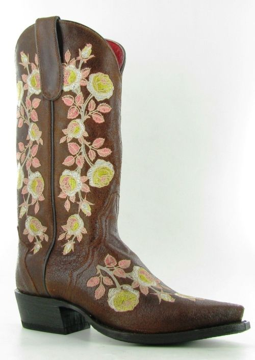 Rusty Spur Couture Macie Bean Yellow Rose of Texas Boots - M8035, ,