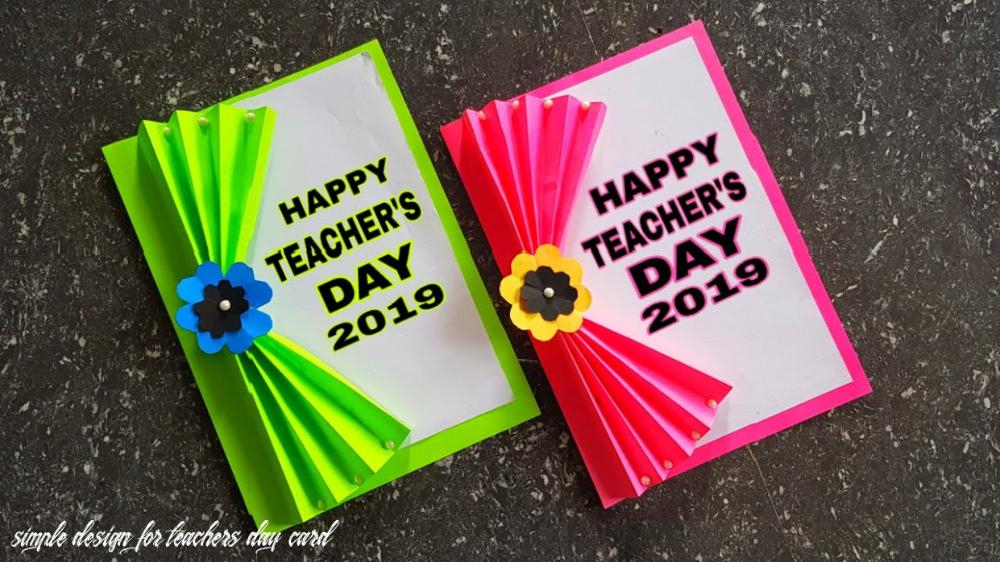 Diy Teachers Day Card Handmade Simple Teachers Day Card Making Ideas Di 2020
