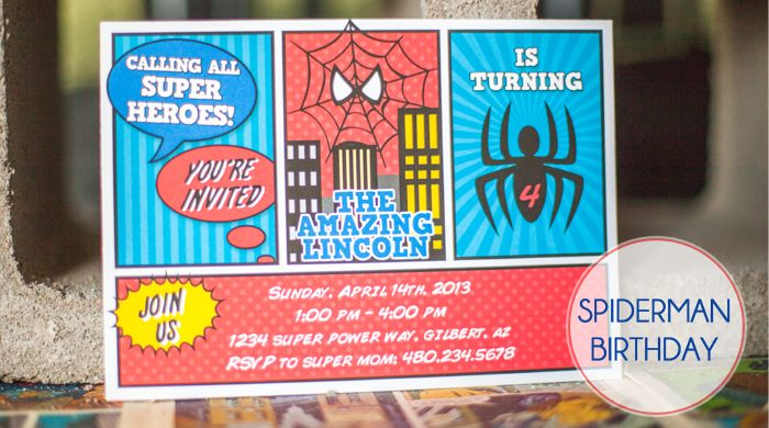 Spiderman Birthday Party Spiderman Birthday Party Spiderman Party Spiderman Birthday