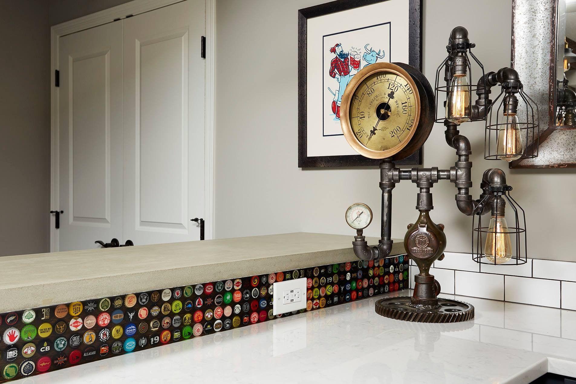 - Bottle Cap Backsplash / Machine Age Lamp (With Images) Home