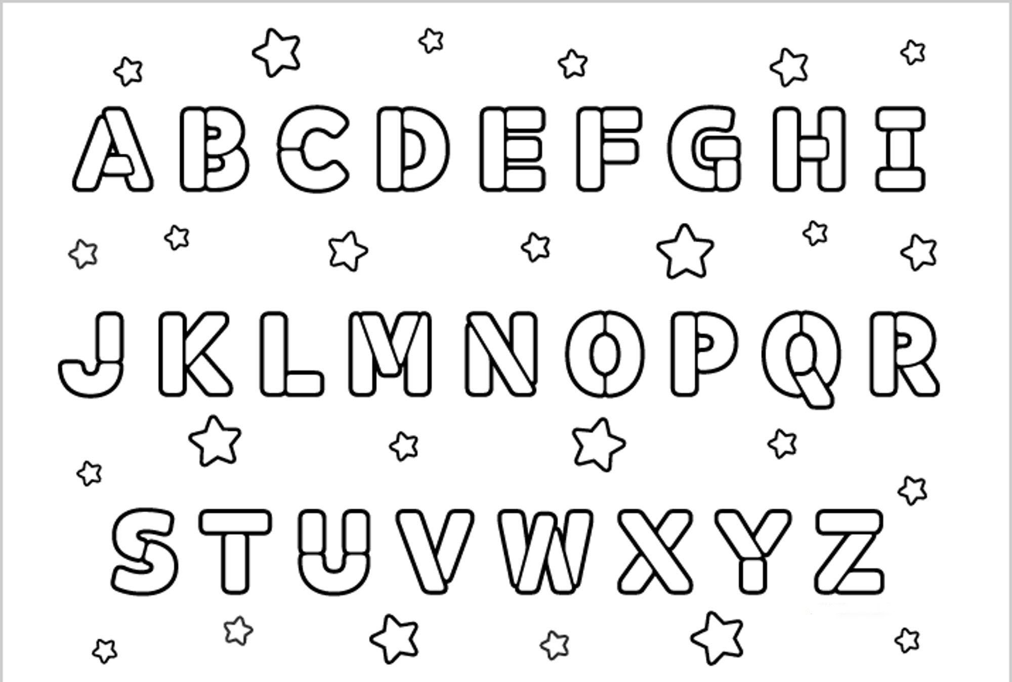 Printable Alphabet Coloring Pages Collection