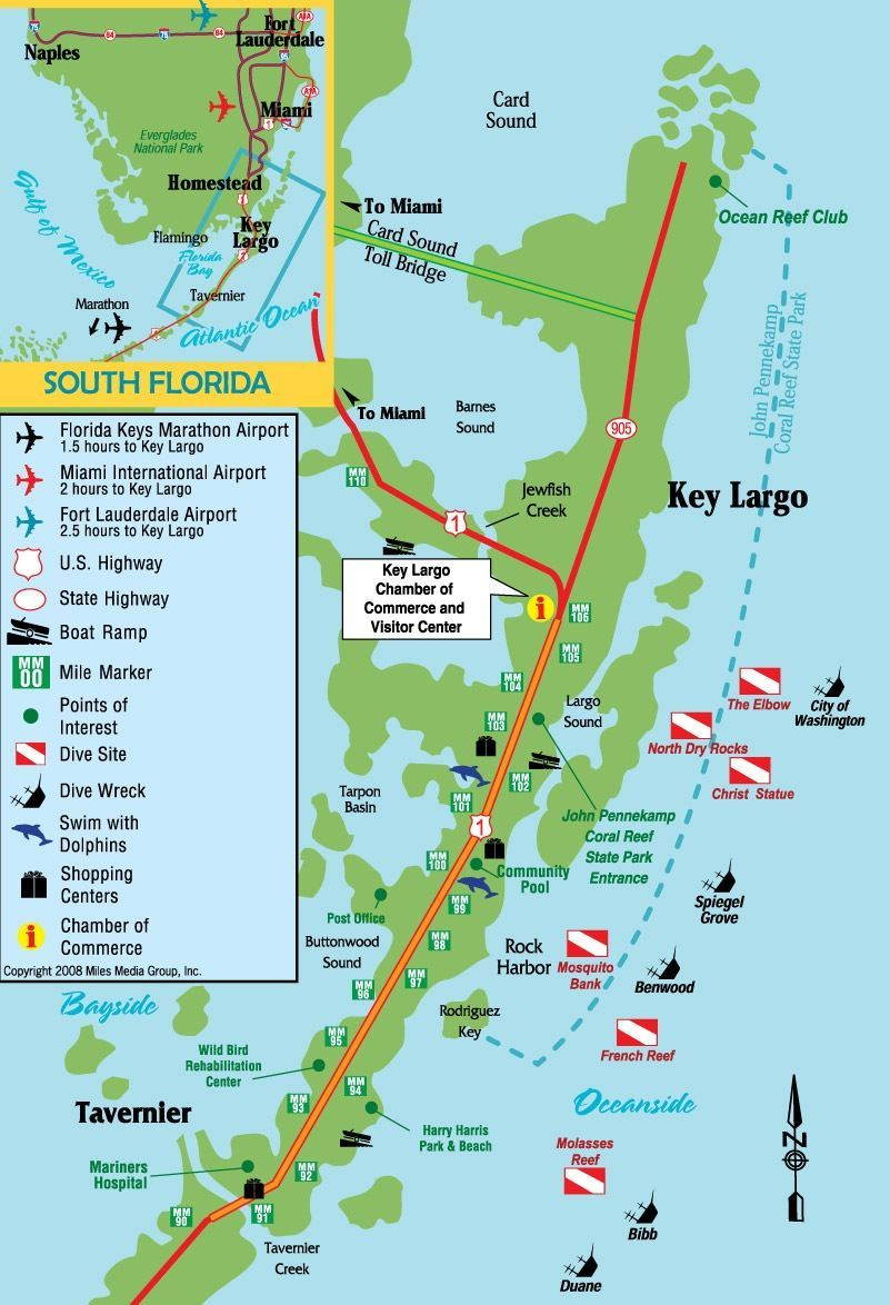 Key Largo Florida Map Key Largo, Florida | Key largo florida, Florida travel, Florida