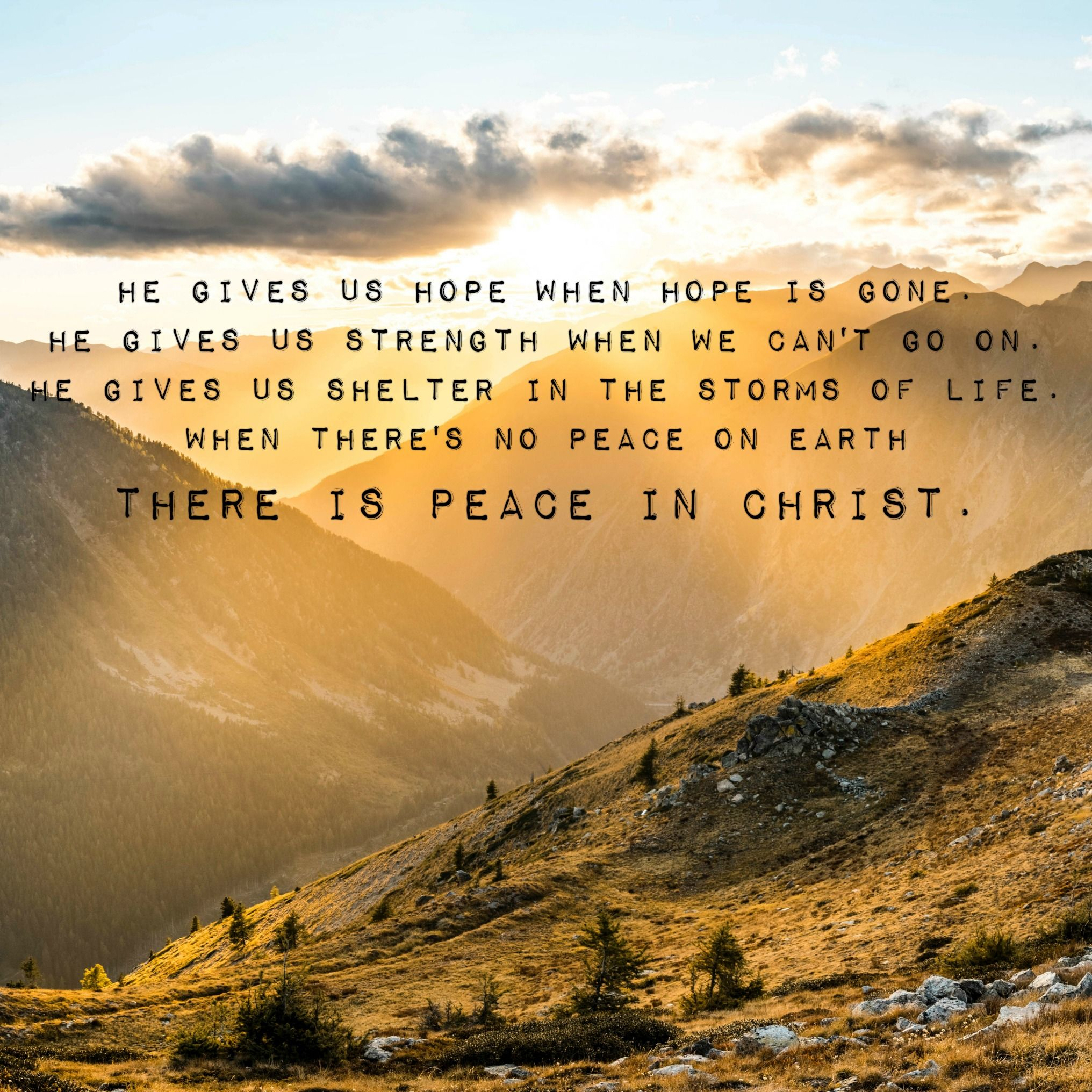 Lds Youth Theme Song Peace In Christ When Theres No Peace On