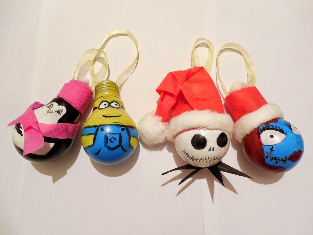 Light bulb ornaments - Light Bulb Ornaments Diy Craft Art And Joy